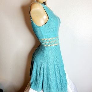 Free People womens teal sunflower dress size 0